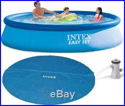 10ft X 30in Intex Easy Set Swimming Above Ground Pool Filter Pump Solar Cover
