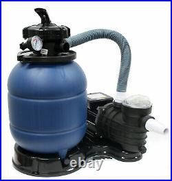 12 Sand Filter & 2400GPH Water Pump System for Intex Above Ground Swimming Pool