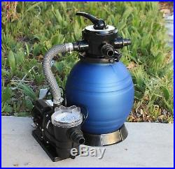 12 Sand Filter & Water Pump System 4 Above Ground Swimming Pool Soft Side Intex
