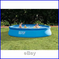 13-Ft x 33-In Easy Set Outdoor Fun Above Ground Swimming Pool with Filter Pump New
