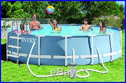 15' X 42' Round Prism Frame and #8482 Pool 1,000 Gph Filter Pump, Ladder