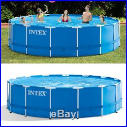 15'x48 Above-Ground Pool with Metal Frame Cartridge Filter Pump And Pool Ladder