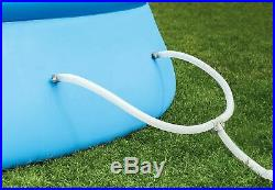 15ft X 48in Easy Set Pool Set with Filter Pump Ladder Ground Cloth & Pool Cover
