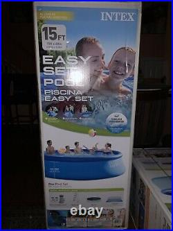 15ft X 48in Intex Easy Set Above Ground Swimming Pool With Pump, Ladder, & Cloth