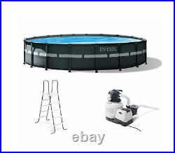 18Ft x 52In Intex Ultra XTR Frame Round Above Ground Swimming Pool Set with Pump