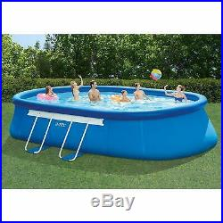 20ft X 12ft X 48in Oval Frame Pool Set with Filter Pump, Ladder, Ground Cloth