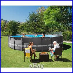 22' x 52 Above Ground Pool Set with Filter Pump Ultra XTR Frame Ladder Cover Pad