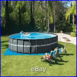 26ft X 52in Ultra XTR Round Frame Swimming Pool Set with Sand Filter Pump NEW
