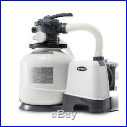 2800 GPH Pool Sand Filter Pump Above Ground Pools Krystal Clear Water GFCI 14 In