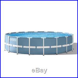 Above Ground Pool Intex 18' x 48 prism frame with pump, latter, cloth, & cover