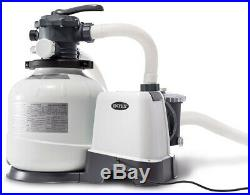 Above Ground Pool Sand Filter Pump W Automatic Timer & 6-Function Control