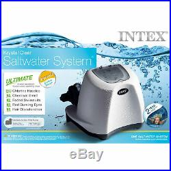 Above-Ground Pools Pumps Cleaner Intex Krystal Clear Saltwater System 15000 Gal