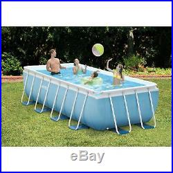Above Ground Swimming Pool + Filter Pump Backyard 16x8 ft Prism Frame Rectangle