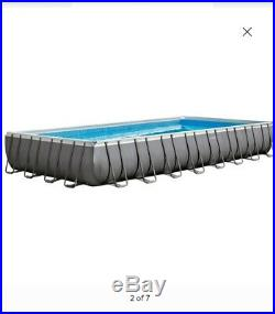 Above Ground Swimming Pool Package Sand Pump/ Ladder Wade Splash 32' X 16' X 52