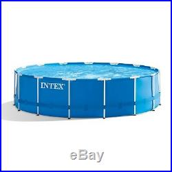 Above Ground Swimming Pool Set Steel Frame with Filter Pump Ladder 15 ft x 48 in