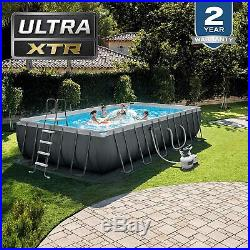 August Pick Up Only Intex 24ft X 12ft X 52in Pool Set Filter Pump Ladder Cover