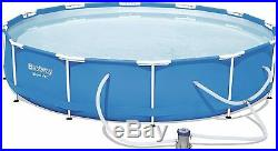 Bestway Metal Frame Set Above Ground Swimming Pool+Filter Pump+Intex SOLAR Cover