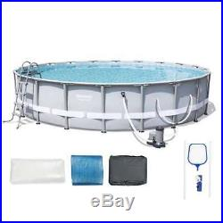 Bestway Steel Pro 20'x48 Frame Pool Set with Pump + Intex Inflatabull (Open Box)
