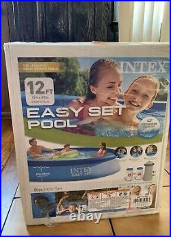 Brand New Intex 12 Ft X 30 In Easy Set Above Ground Pool With Filter Pump