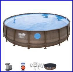 Coleman 18ft x 48in Power Pool with Windows + Pump + Filter + Ladder Combo