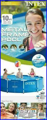 INEW Intex 10ft x 30in Metal Frame Pool Set with Filter Pump SHIPS UPS NEXT DAY AI