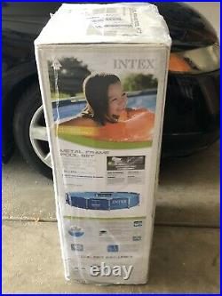 INTEX 12' x 30 Metal Frame Above Ground Swimming Pool with Filter Pump SHIPS ASAP