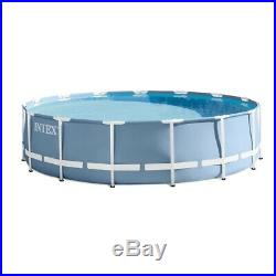INTEX 14'x42 PRISM FRAME ABOVE GROUND POOL WITH FILTER PUMP