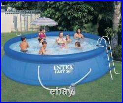 INTEX 15' x 42 EASY SET Above Ground Pool with Pump, Cover, and Ladder Ships Fast