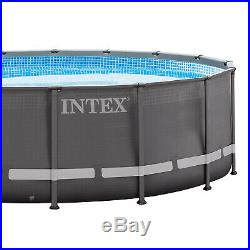 INTEX 16' x 48 Ultra Frame Swimming Pool Set with Sand Filter Pump (Open Box)