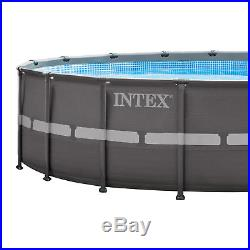 INTEX 18' x 52 Ultra Frame Swimming Pool Set with Sand Filter Pump (Open Box)