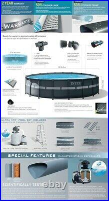 INTEX 18ft X 52in Ultra XTR Frame Pool Set with Sand Filter FAST FREE SHIPPING