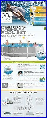INTEX 20ft x 52in Above Ground Swimming Pool Set WITH Filter Pump BRAND NEW