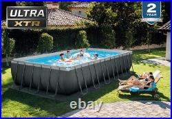 INTEX 24ft x 12ft x 52in Ultra XTR Frame Swimming Pool Set with Ladder Pump -74%