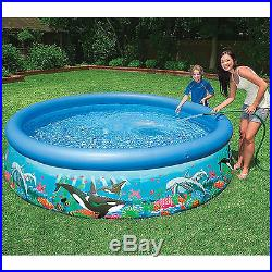 Inflatable Swimming Pool 10'x30 withPump Filter Family Round Above Ground New
