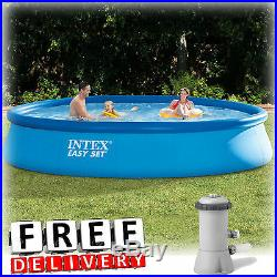 Inflatable Swimming Pool Intex 13'x33 withPump Kid Family Round Above Ground