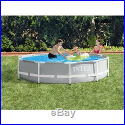 Intex 10 Foot x 30 Inches Prism Frame Above Ground Pool with 330 GPH Filter Pump