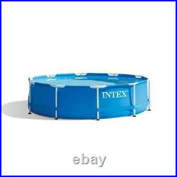 Intex 10'x30 Metal Frame Swimming Pool Set with Filter Pump 28201EH (For Parts)