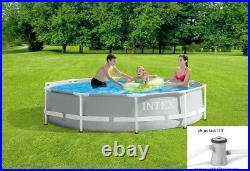 Intex 10' x 30 Above Ground Metal Frame Pool with 330 GPH Filter Pump