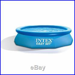 Intex 10' x 30 Easy Set Above Ground Inflatable Pool, Filter, Pump, & Cover