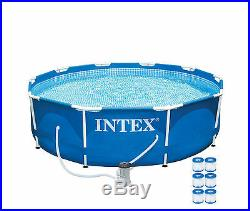 Intex 10' x 30 Metal Frame Above Ground Swimming Pool with 330 GPH Pump & Filters