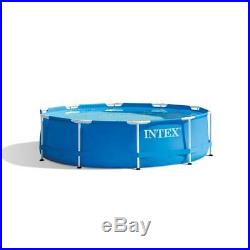 Intex 10' x 30 Metal Frame Above Ground Swimming Pool with Filter Pump