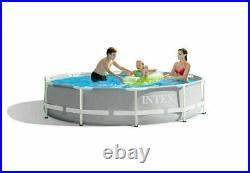 Intex 10' x 30 Metal Prism Frame Above Ground Pool without Filter Pump NEW