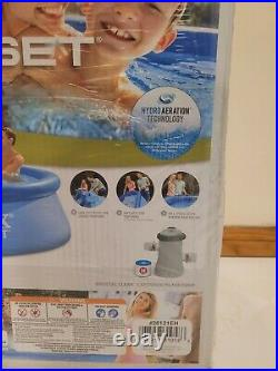 Intex 10ft x 30in Easy Set Inflatable Above Ground Pool WITH FILTER AND PUMP