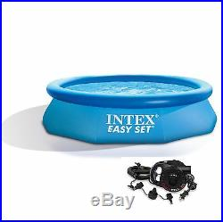 Intex 10ft x 30in Easy Set Inflatable Above Ground Swimming Pool with Air Pump