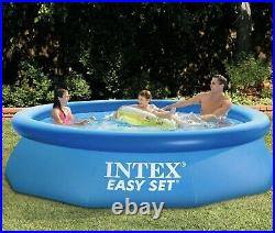 Intex 10ft x 30in Easy Set Inflatable Swimming Pool with 330 GPH Filter Pump