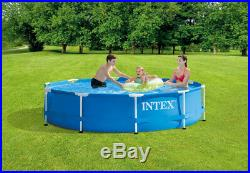 Intex 10ft x 30in Metal Frame Above Ground Pool, No Pump, SHIPS TODAY, 10' x 30