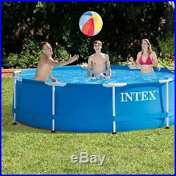 Intex 10ft x 30in Pool with Filter Pump, Filter Cartridges and Phosphate Remover