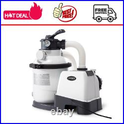 Intex 1200 GPH Above Ground Pool Sand Filter Pump (110-120 Volt) Easy Cleaning