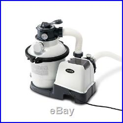 Intex 1200 GPH Above Ground Pool Sand Filter Pump with Automatic Timer 26643EG