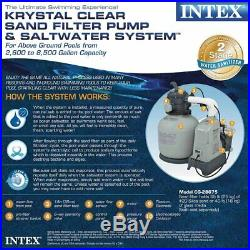 Intex 120V Krystal Clear Sand Filter Pump & Saltwater System CG-28675 with E. C. O